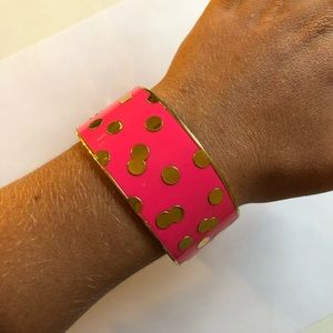 Bright Pink and Gold Confetti Kate Spade Bangle